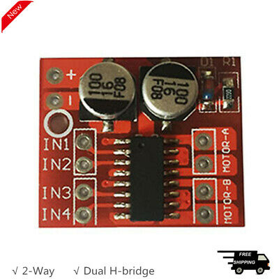 2-Way DC Motor Driver Module CW CCW PWM Speed Adjustment Dual H Bridge