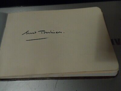 Rare Autograph Genuineon Page 1930S 2 Composers Ernest Tomlinson + Herbert Fryer