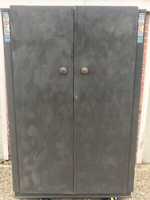 Antique I. Griew & Co Ltd. Double Wardrobe, Painted In Annie Sloan Chalk Paint