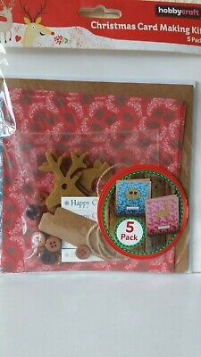 Hobby Craft Card Making Kit  -  5 Christmas Cards