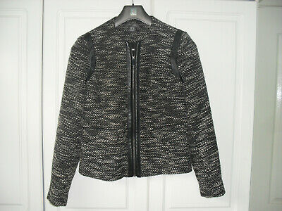 Primark Black/White Flecked Zip-up Jacket - Size 12 - BNWOT