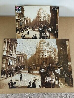 JR Deluxe The Edwardian Collection 500 Piece Jigsaw Puzzle - London Street Scene