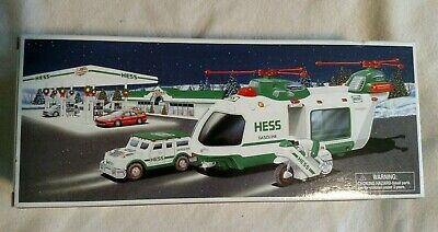2001 Hess motorcylye with helocipter and cruiser  NIB