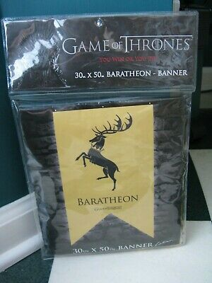 "Game of Thrones Baratheon 30"" x 50""  House Banner--NEW--"