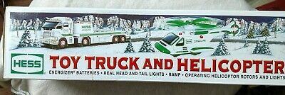2006 Hess Collectible Toy Truck And Helicopter With 31 Working Lights - New!!