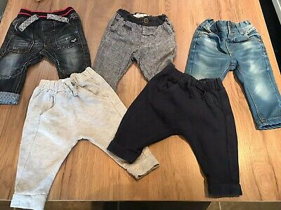 Bundle Of Next Boys Trousers And Jeans 6-9 Months
