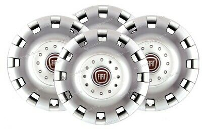"""Set X 4 Wheel Trims Hub Caps Deep Dish Domed To Fit Fiat Ducato 16"""" 414 Defects"""