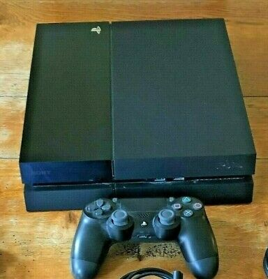 Sony PS4 BLACK MATT Console FIFA 19 500GB Controller Playstation 4 - FREE P&P NR
