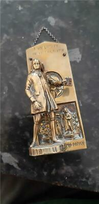 Vintage 1920's John Wesley Methodist Novelty Brass Door Knocker