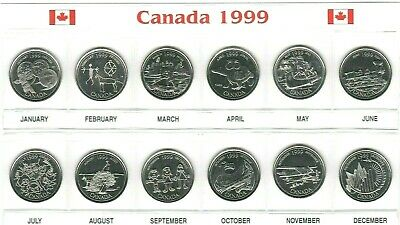 Canada 1999 Millennium Designs  BU UNC Commemorative 12 Coin Set!!