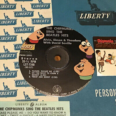 7 inch Stereo 33 LIBERTY  Chipmunks Sing the Beatles Hits VG