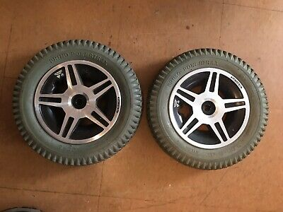 """13 1/2"""" x 3 (3.00-8) Flat-Free Drive Wheels Assembly for Jazzy 600"""