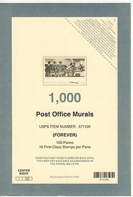 Usps 2019 Post Office Murals Stamp Deck Top Card Mint Condition