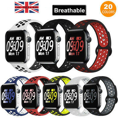 For Apple Watch Band Series 5 4 3 2 Sport iWatch Silicone Strap Band Wristband