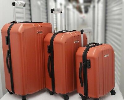 3 Piece Luggage Set Travel Trolley Suitcase ABS+PC Nested Spinner