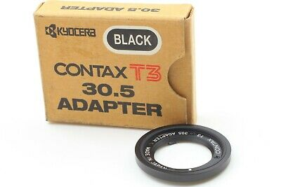 【UNUSED】CONTAX T3 30.5 ADAPTER BLACK From JAPAN A164