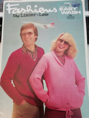 Vintage LISTER-LEE Fashions knitting pattern booklet - 12 family knits