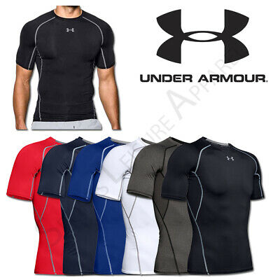 Mens T Shirts Under Armour Compression HeatGear Top Sports Tee Size M L XL XXL