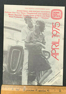 1975 April *American Graffiti* Hbo Home Box Office Movie Guide Never Used!!(As)