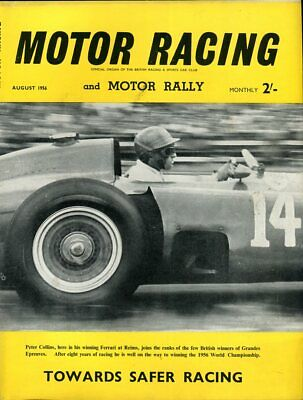Motor Racing - BRSCC journal - magazine - August 1956 Peter Collins cover