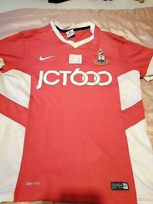 Bradford City Nike Red Short Sleeve Football Training Shirt size Large No 23