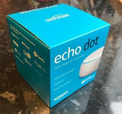 Amazon Echo Dot (3rd generation) Smart Speaker - White and Sandstone Fabric