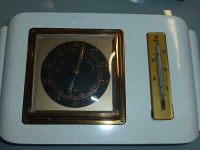 sehr edles Barometer mit Thermometer LUFFT weiß/Messing