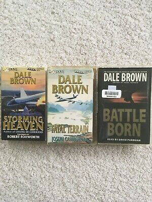 Lot of 3 Dale Brown Cassette Audiobooks Rare