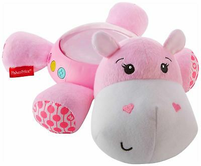 Fisher Price FISHER-PRICE HIPPO PLUSH PROJECTION SOOTHER PINK Soft Toy - BN
