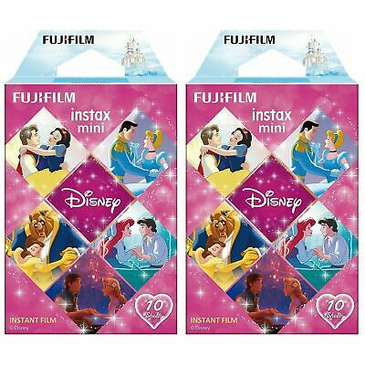 2 Packs Disney Princess FujiFilm Instax Mini Film Polaroid 20 sheets Exp 08.2021