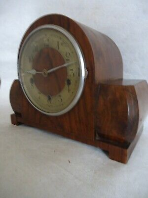 Art Deco Smith Empire Westminster Chiming Mantle Clock. Spares Or Repair