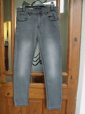 NEXT Boys Grey Charcoal Skinny Slim Antiqued Jeans Age 13 - 14 Years NEW