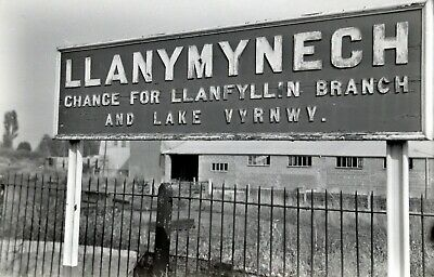 Larger size b&w negative Llanymynech station in 1950s Sold with copyright(2)
