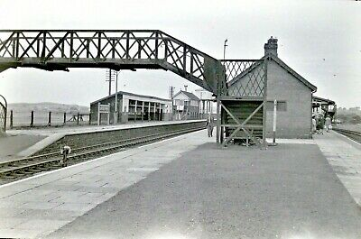 Larger size b&w negative Afon Wen station in 1950s Sold with copyright