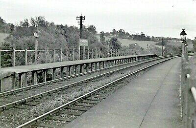 Larger size b&w negative Shoscombe & Single Mill Halt 1950s Sold with copyright1