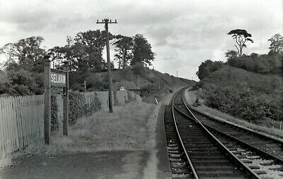 Larger size b&w negative Selham station in 1950s Sold with copyright(3)