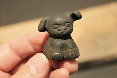 "Vintage Antique Style Miniature Cast Iron ""Griswold Pup"" Dog"