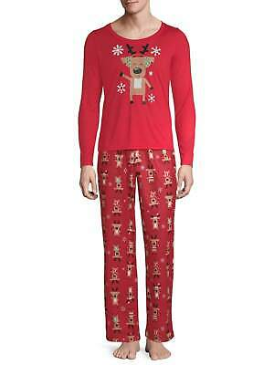 Toast & Jammies Matching Family Christmas Pajamas Men's 2-Piece Reindeer Set