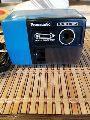 Panasonic KP-123 Electric Pencil Sharpener Auto Stop Tested Works Japan