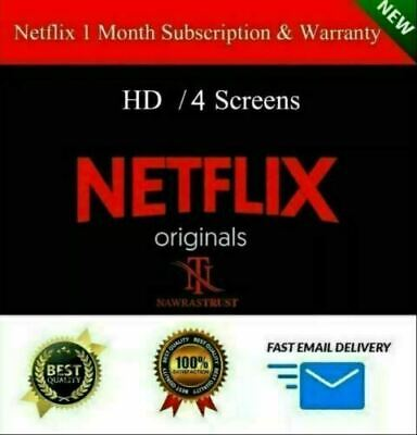 Netflix Gift & Warranty: 4K UltraHD | 4 Screens | 1 Month | Private