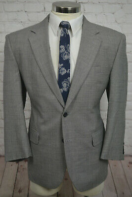 Jos. A. Bank Mens Gray Wool Classic Fit Pleated Front 2 Piece Suit 42S 35Wx30L