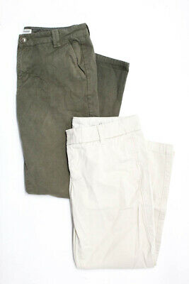 Madewell J Crew Womens Mid Rise Cropped Khaki Trousers Cotton Size 4 6 Lot 2