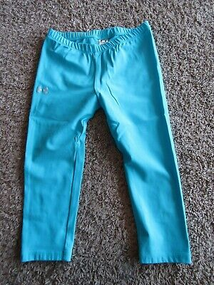 Under Armour Nylon Blend Teal Blue Capri Yoga Pant Legging Youth Size Med