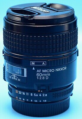 Nikon Micro-NIKKOR 60mm f/2.8 CRC D AF Lens Exc++++++Working Condition/Caps