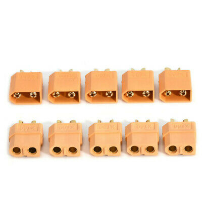5 Pairs 10Pcs XT60 Male+ Female Bullet Connectors Plugs for RC Lipo Battery Lots