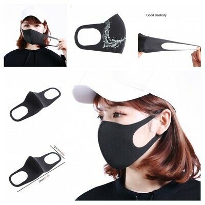 Portable Ear Loop Face Masks 3pcs Cycling Mouth Anti Dust Outdoor Accessories