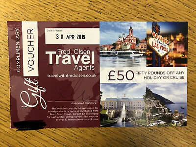 Fred Olsen - £50 Voucher (booking to be made by 29 April 2020)