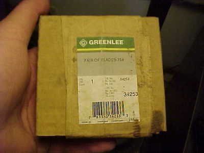 NOS Greenlee 34253 Pair Of Replacement Blades For 754 Ratcheting Cable Cutter