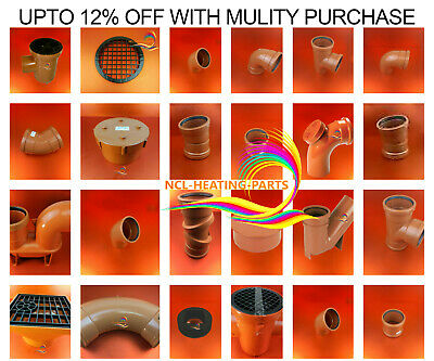 110mm UNDERGROUND DRAINAGE FITTINGS BEND TRAP GULLY  COUPLER ELBOW  TETRAFLOW