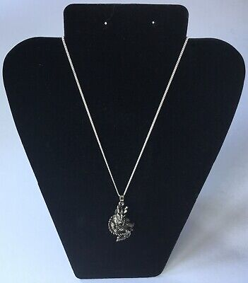 Ancient Wisdom 925 silver Dragon pendant with moving parts. New. Boxed.